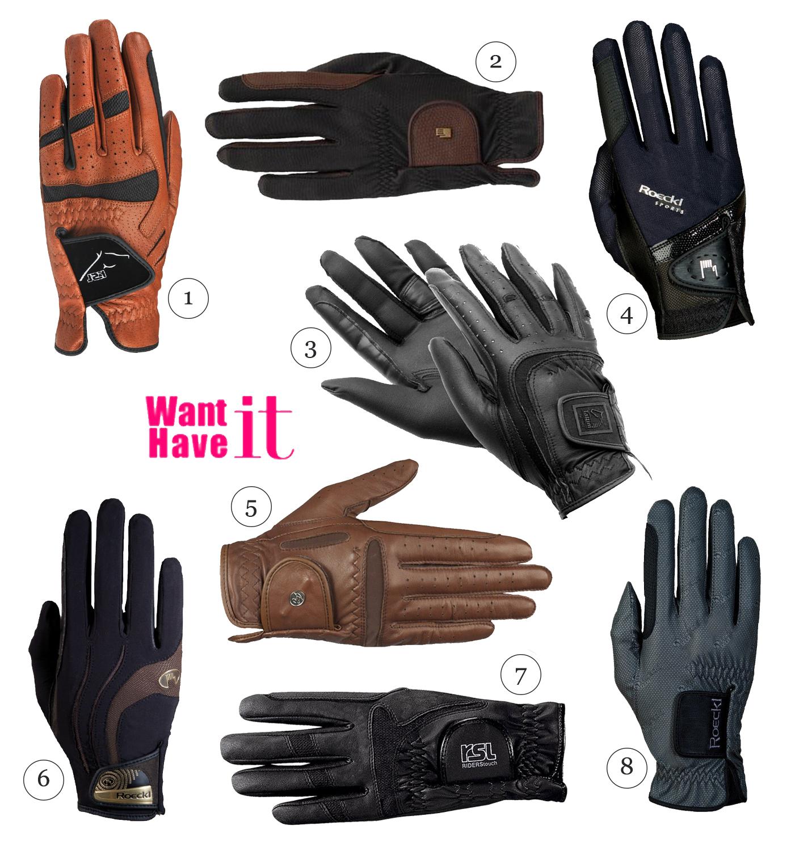 rękawiczki jeździeckie na treningi