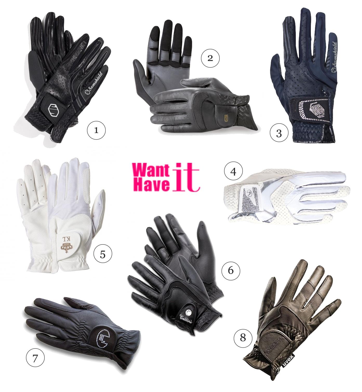 rękawiczki jeździeckie na zawody
